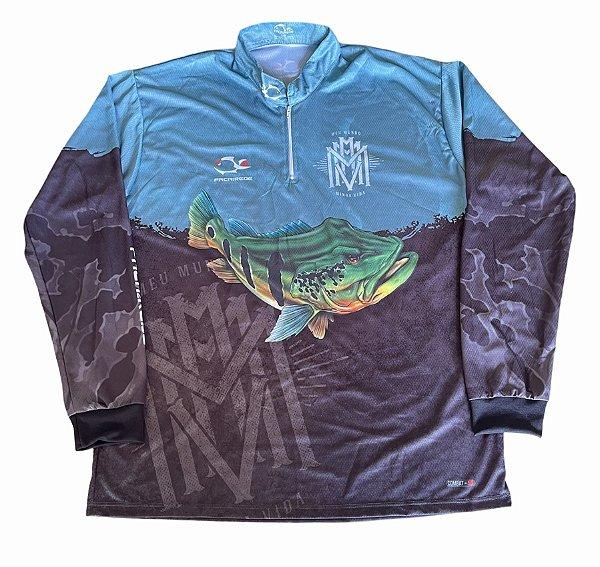 Camisa De Pesca Mmmv x Faca Na Rede -  Modelo Tucunaré