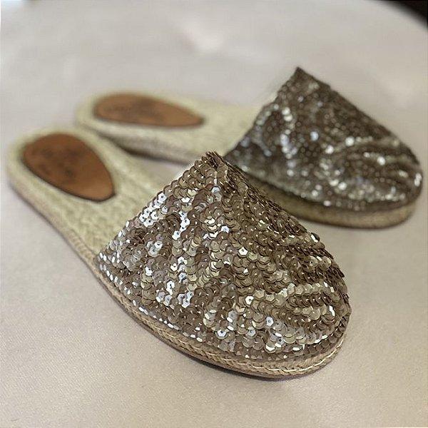 Alpargata Bronze Mini Lantejoulas