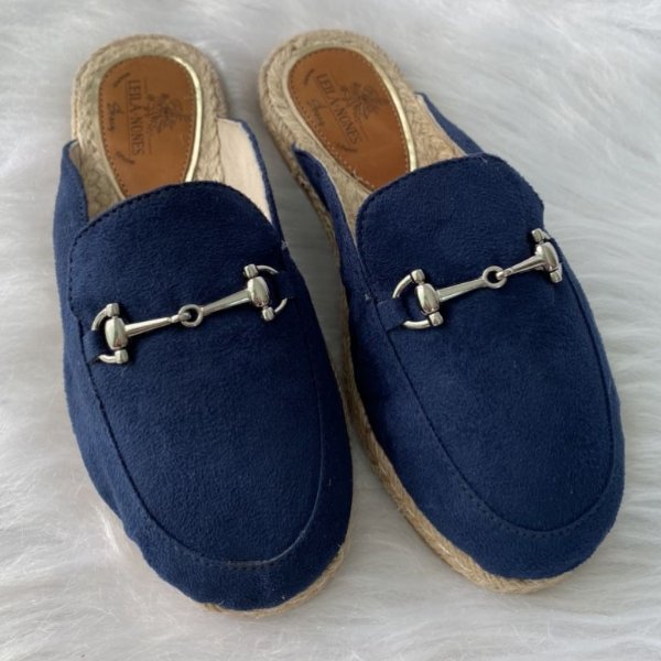 Mule Lolita Azul Marinho