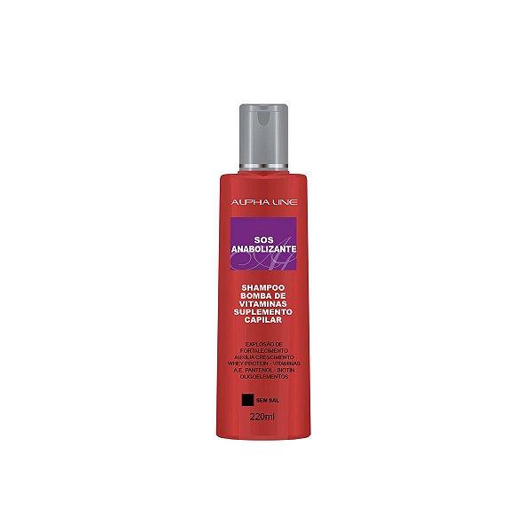 Shampoo SOS Anabolizante Bomba de Vitaminas 220ml - Alpha Line