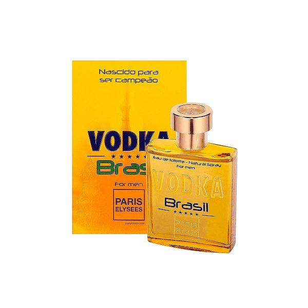 Vodka Brasil Yellow Eau De Toilette Paris Elysees - Perfume Masculino 100ml