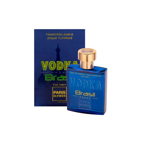 Vodka Brasil Blue Eau De Toilette Paris Elysees - Perfume Masculino 100ml