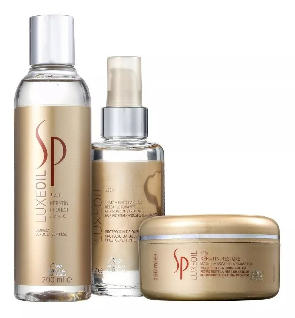 Kit Sp System Professional Luxe Oil Keratin TRIO