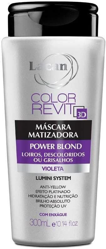 Máscara Matizadora Color Power Blond Lacan 300ml