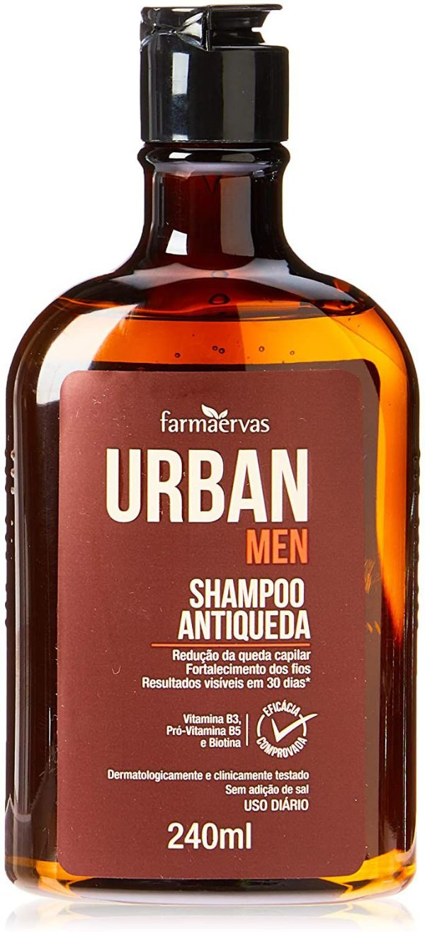 Shampoo Farmaervas Antiqueda Urban Men - 240ml