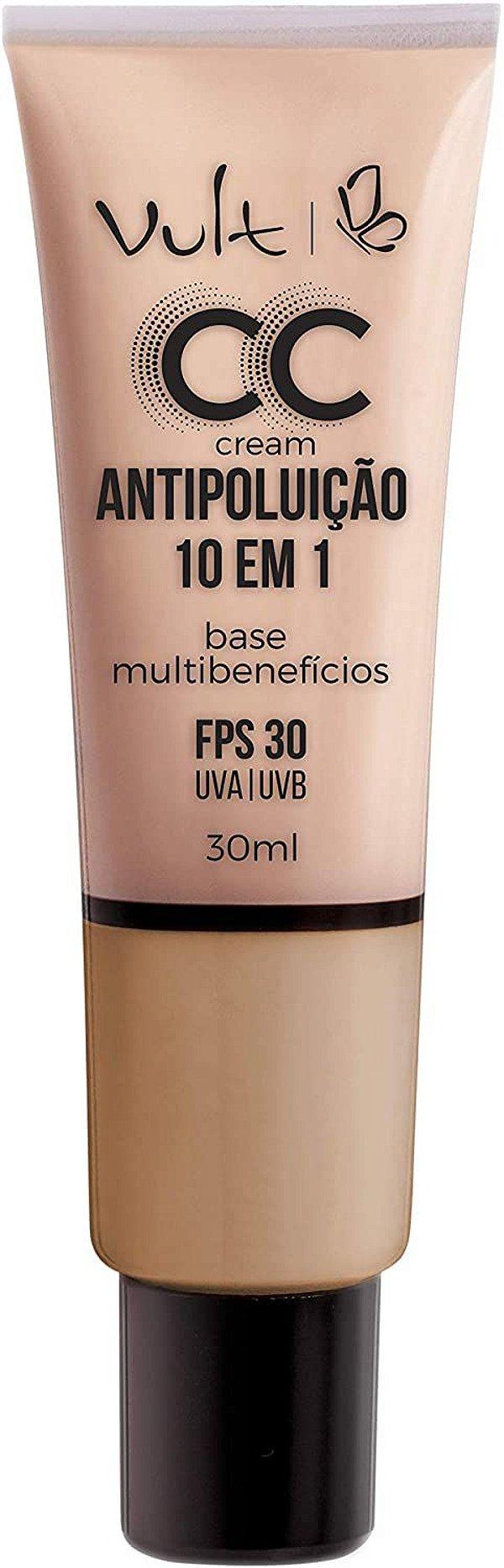 CC Cream Vult Base Multibenefícios 10 em 1- MB03 - 30ml