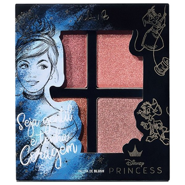 Paleta Blush Vult Disney Seja Gentil e Tenha Coragem Cinderela