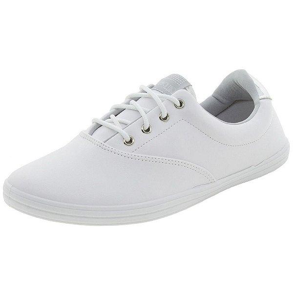 Tenis feminino branco e prata de amarrar com cadarço confortável