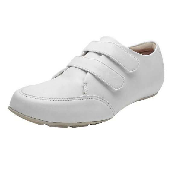 Tenis feminino branco enfermagem com fecho de colar | palmilha ultra conforto