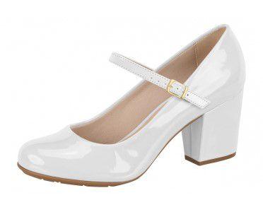 sapato feminino branco verniz  modelo boneca noiva enfermagem debutante batizado primeira comunhão