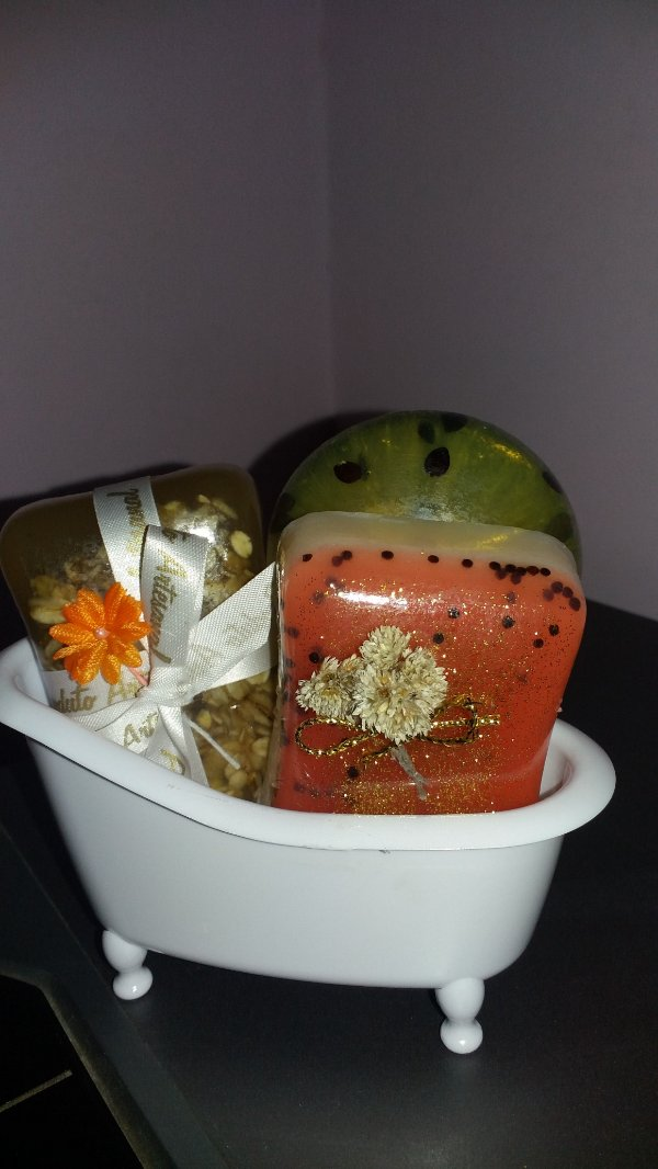 Kit Saboneteira e Sabonete Artesanal