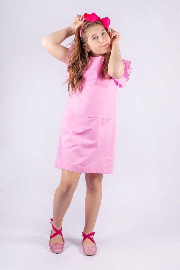 Vestido Princess de Algodão Rosa