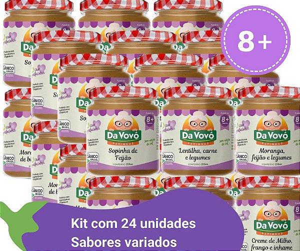 Sopinhas 8+ kit com 24 unidades 200ml