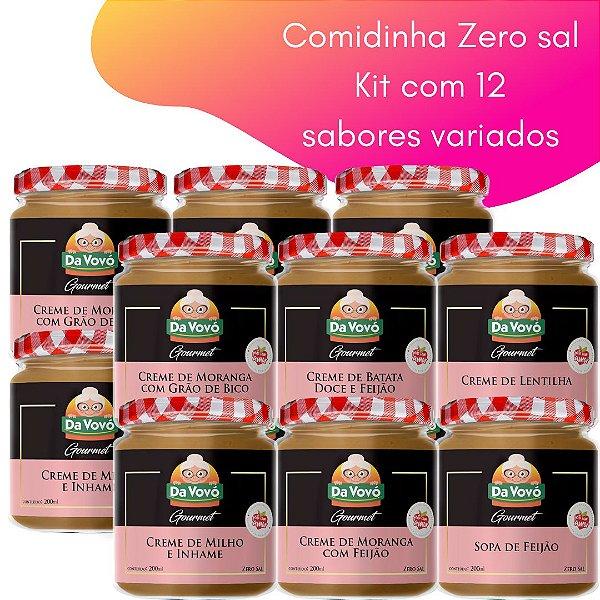 Comidinhas Zero sal - 200ml -  kit com 12 unidades