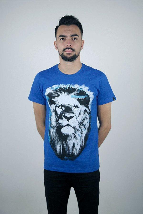 Camiseta Leão (Azul)