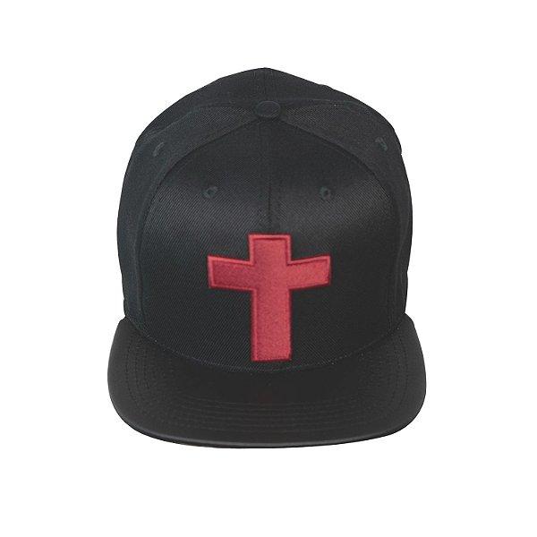 Boné Graça Preto Cruz Vermelha