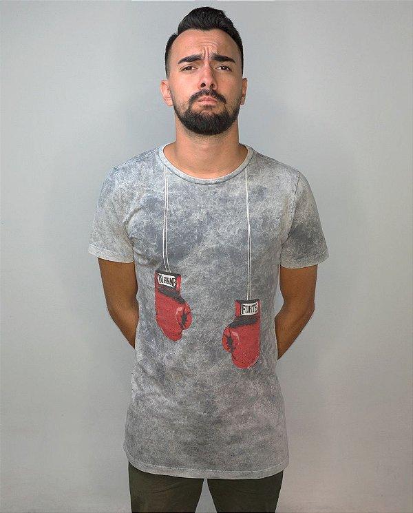 Camiseta Tô Firme, Forte  · Cinza Estonado  · Unissex