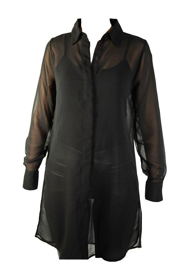 Pré venda Maxi camisa preta