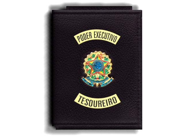 Carteira Premium Funcional Personalizada com Brasões para Tesoureiro