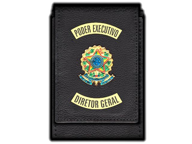 Carteira Standart Plus Funcional Personalizada com Brasões para Diretor Geral