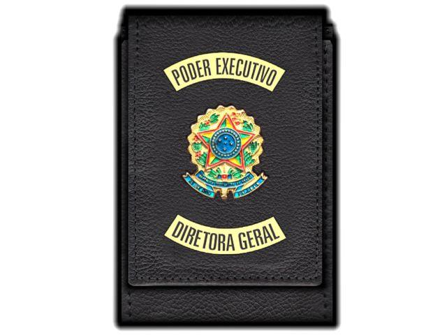 Carteira Standart Plus Funcional Personalizada do Poder Executivo com Brasões para Diretora Geral