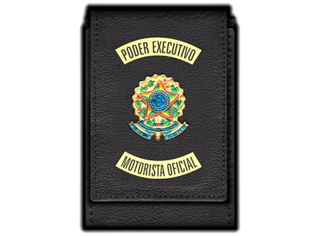 Carteira Standart Plus Funcional Personalizada do   Poder Executivo com Brasões para Motorista Oficial