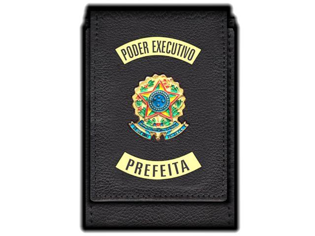Carteira Standart Plus Funcional Personalizada do Poder Executivo com Brasões para Prefeita