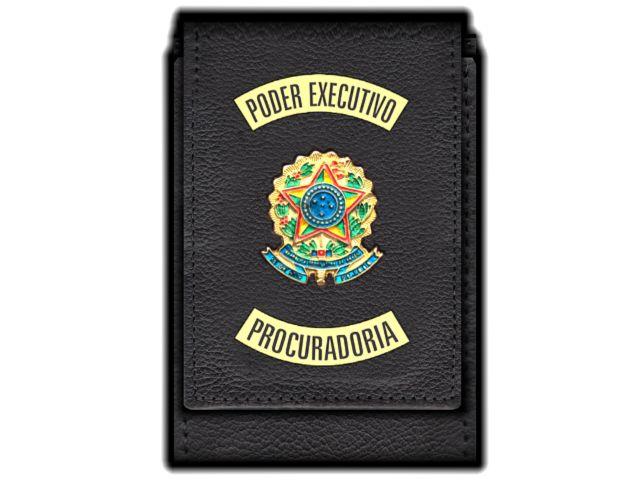 Carteira Standart Plus Funcional Personalizada do Poder Executivo com Brasões para Procuradoria