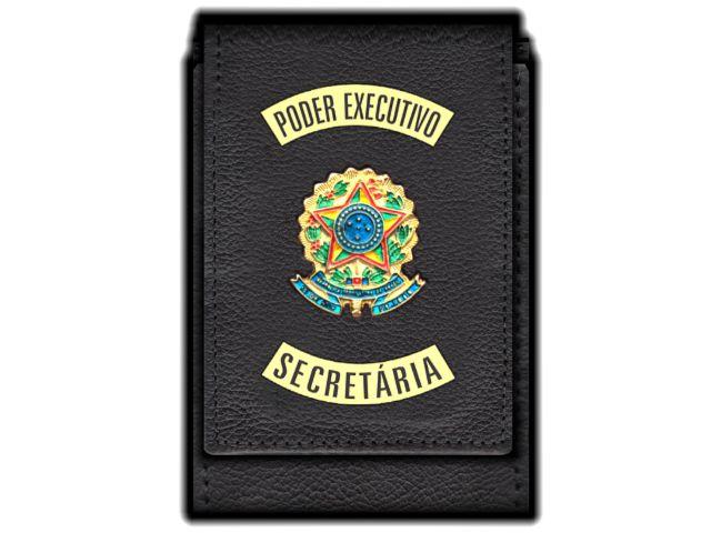 Carteira Standart Plus Funcional Personalizada do Poder Executivo com Brasões para Secretária