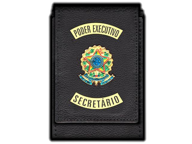 Carteira Standart Plus Funcional Personalizada do Poder Executivo com Brasões para Secretário