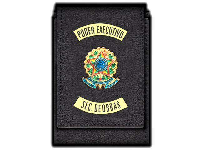 Carteira Standart Plus Funcional Personalizada do Poder Executivo com Brasões para Secretário de Obras