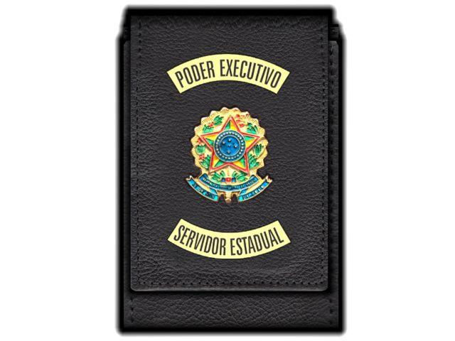 Carteira Standart Plus Funcional Personalizada do Poder Executivo com Brasões para Servidor Estadual