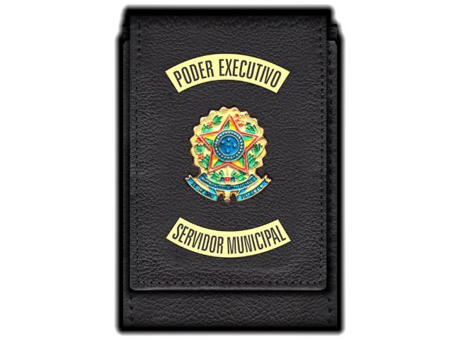 Carteira Standart Plus Funcional Personalizada do Poder Executivo com Brasões para Servidor Municipal