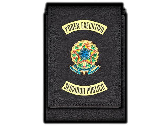 Carteira Standart Plus Funcional Personalizada do Poder Executivo com Brasões para Servidor Público