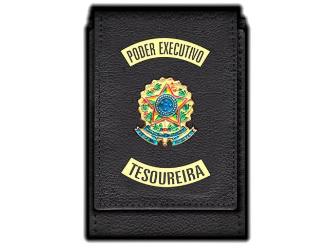 Carteira Standart Plus Funcional Personalizada do Poder Executivo com Brasões para Tesoureira