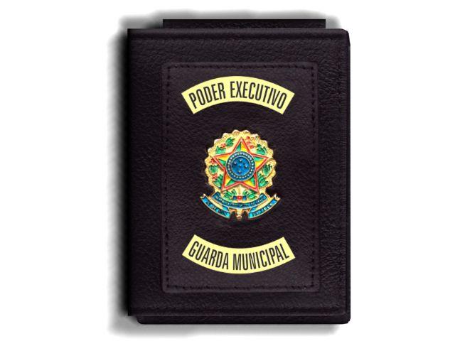 Carteira Premium Funcional Personalizada do Poder Executivo com Brasões para Guarda Municipal