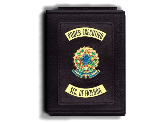 Carteira Premium Funcional Personalizada do Poder Executivo com Brasões para Secretário da Fazenda