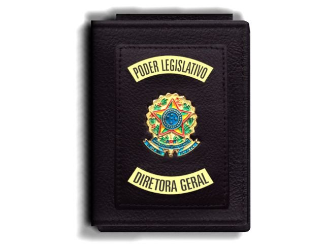 Carteira Premium Funcional Personalizada do Poder Legislativo com Brasões para Diretora Geral