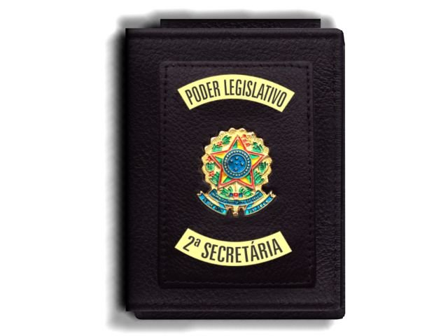 Carteira Premium Funcional Personalizada do Poder Legislativo com Brasões para Segunda Secretária