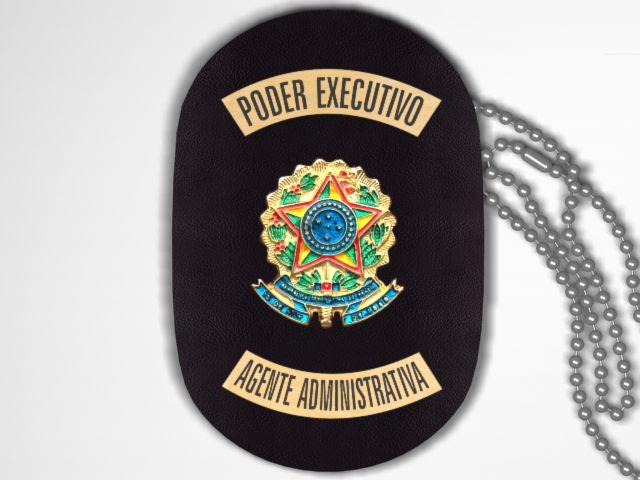 Distintivo Funcional Personalizado do Poder Executivo  para Agente Administrativa