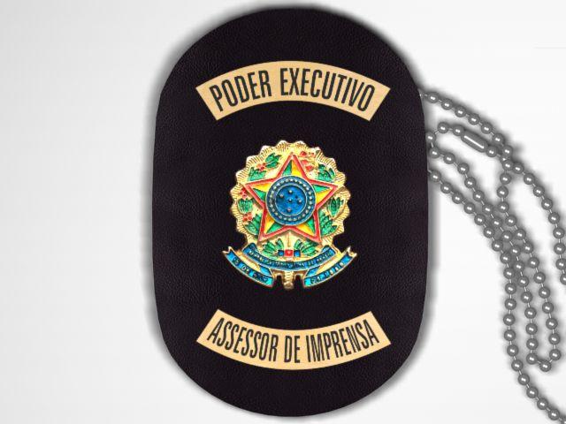 Distintivo Funcional Personalizado do Poder Executivo para Assessor de Imprensa