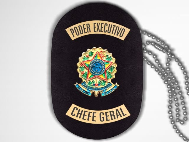 Distintivo Funcional Personalizado do Poder Executivo para Chefe Geral