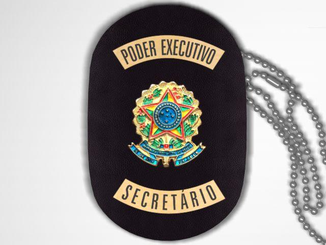 Distintivo Funcional Personalizado do Poder Executivo para Secretário
