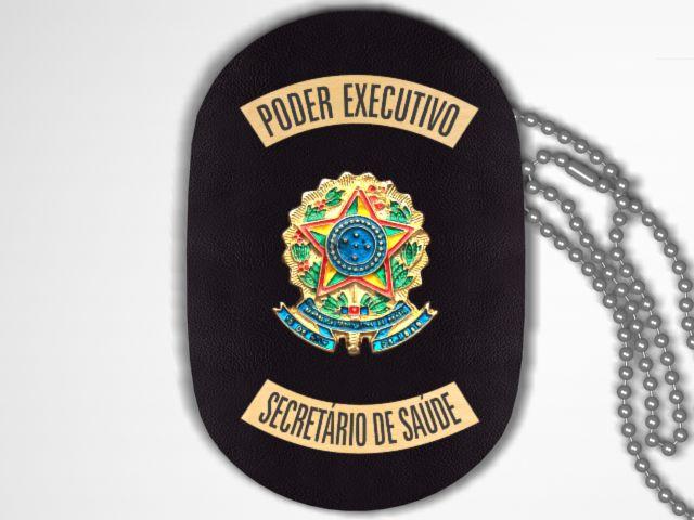 Distintivo Funcional Personalizado do Poder Executivo para Secretário de Saúde