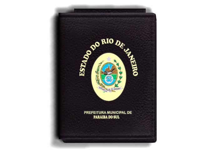Carteira Premium Funcional Personalizada com Brasão do estado do Rio de Janeiro - Prefeitura Municipal de Paraíba do Sul