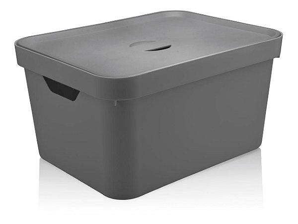 Caixa Organizadora Cube G com tampa 32l