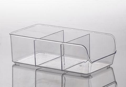 Organizador Diamond com Divisórias Cristal | 28X14X9CM - 883