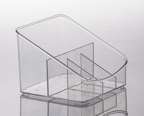886 - Organizador Diamond com Divisórias Cristal |18X17X13CM