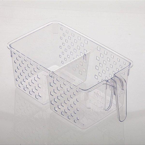 876 - Organizador com Alça e Divisória Cristal | 34X19X14CM