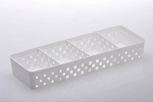 1067 - Cesto Organizador c/ Divisorias Quadratta 33x11x5cm